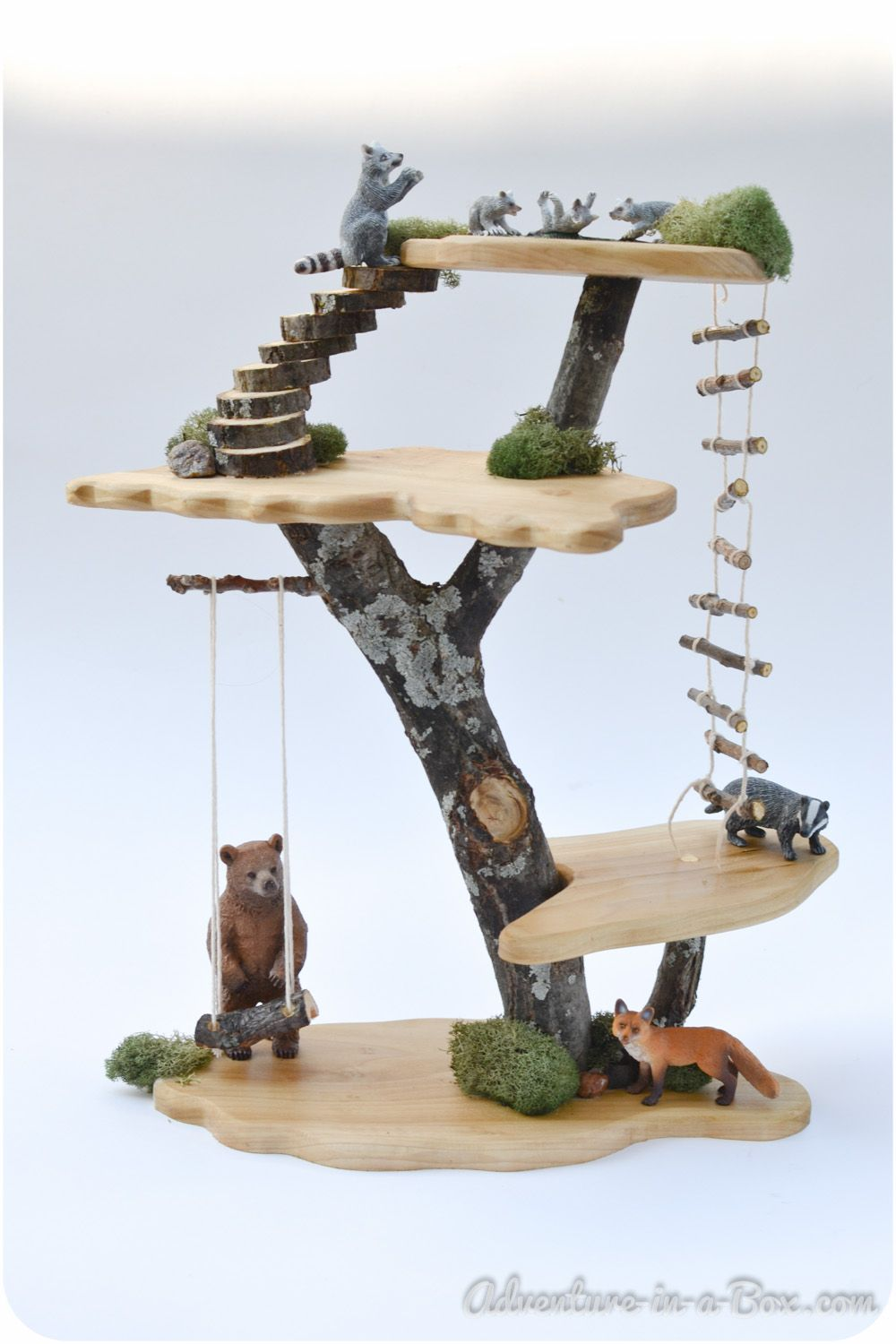 Gnome Garden: DIY Project: How To Make A Toy Tree House