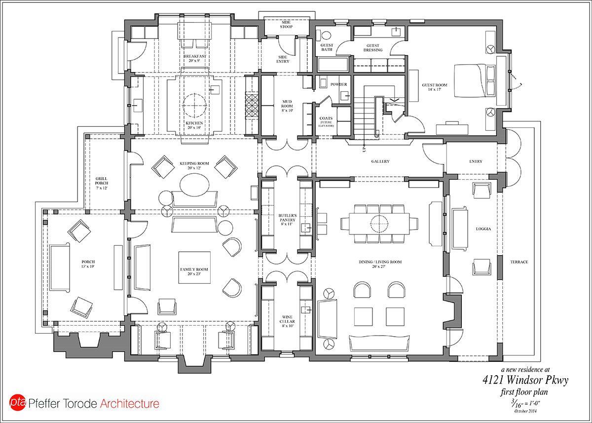 Way too big but i love the walkthrough butler 39 s pantry for Wine cellar floor plans