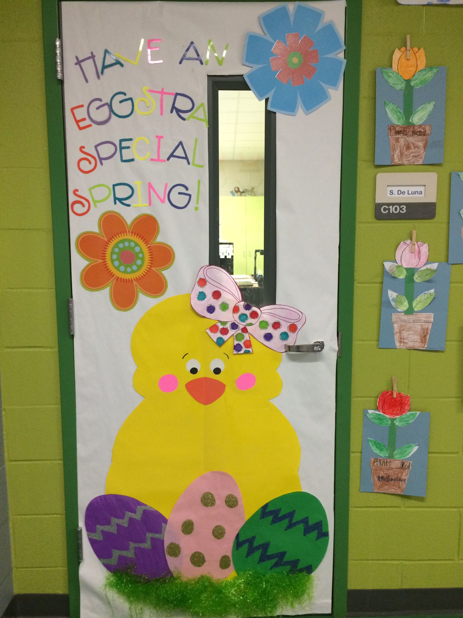 Spring Themed Classroom Decorations : Easter themed classroom door images about bulletin
