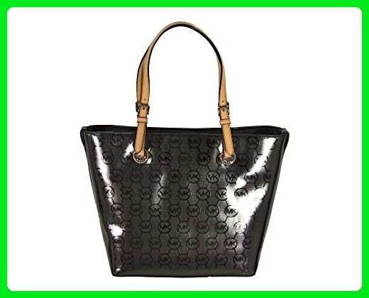 d57ab9b6c8 Michael Kors Jet Set Metallic Logo Tote - Nickel - Top handle bags ( Amazon  Partner-Link)
