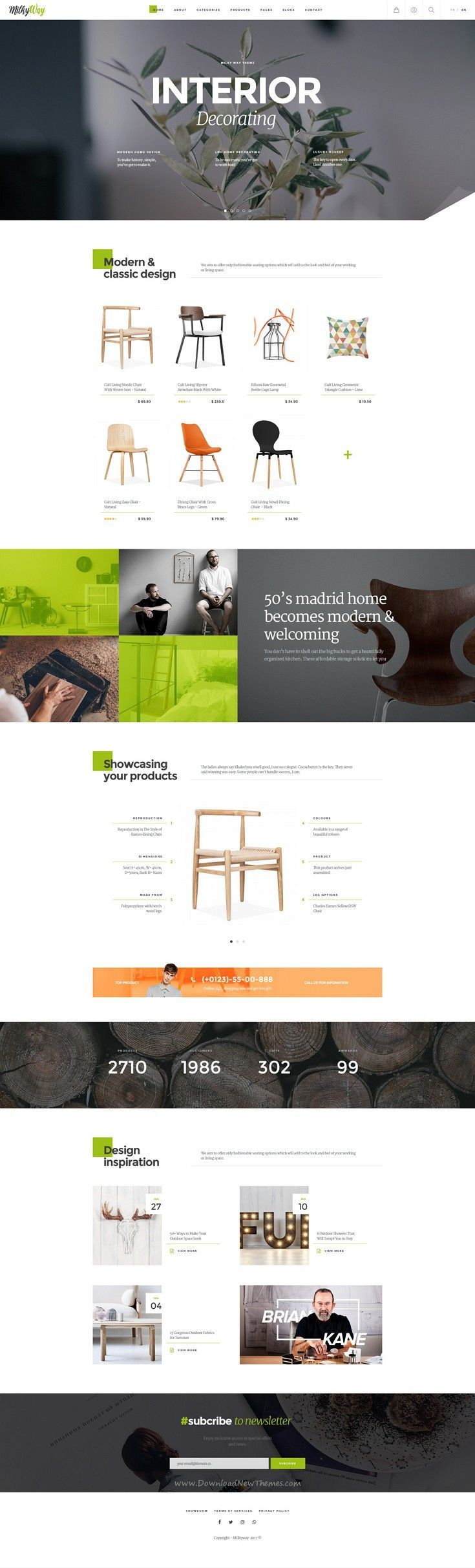 Milkyway Is Creative Ecommerce Psd Template For Furniture Interior