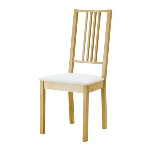 Börje Chair  Birchgobo White  Ikea Birch With A Clear Acrylic Fair Ikea Dining Room Chairs Sale Review