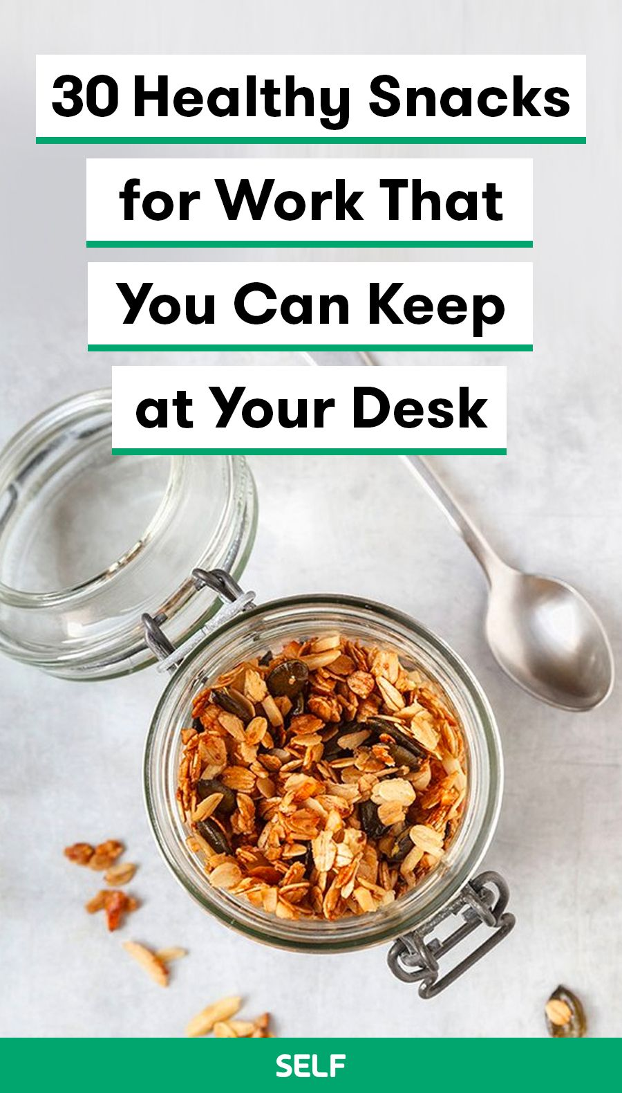 30 Healthy Snacks for Work That You Can Keep at Your Desk images