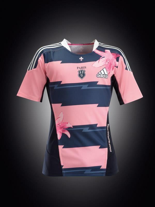 92bc573a0f2dd New SF Paris Jersey Sport Stripes Woman Pink Dark Blue