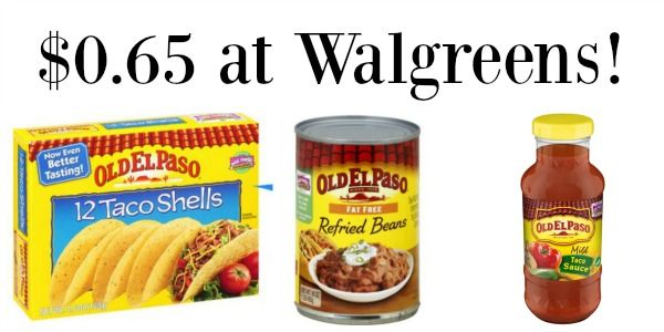 Walgreens Old El Paso Products Only 0 65 Become A Coupon Queen Refried Beans Walgreens Old El Paso
