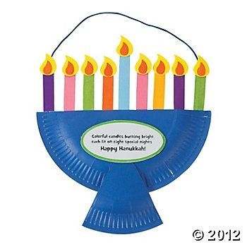 preschool hanukkah activities paper plate menorah craft kit decoration crafts crafts 355