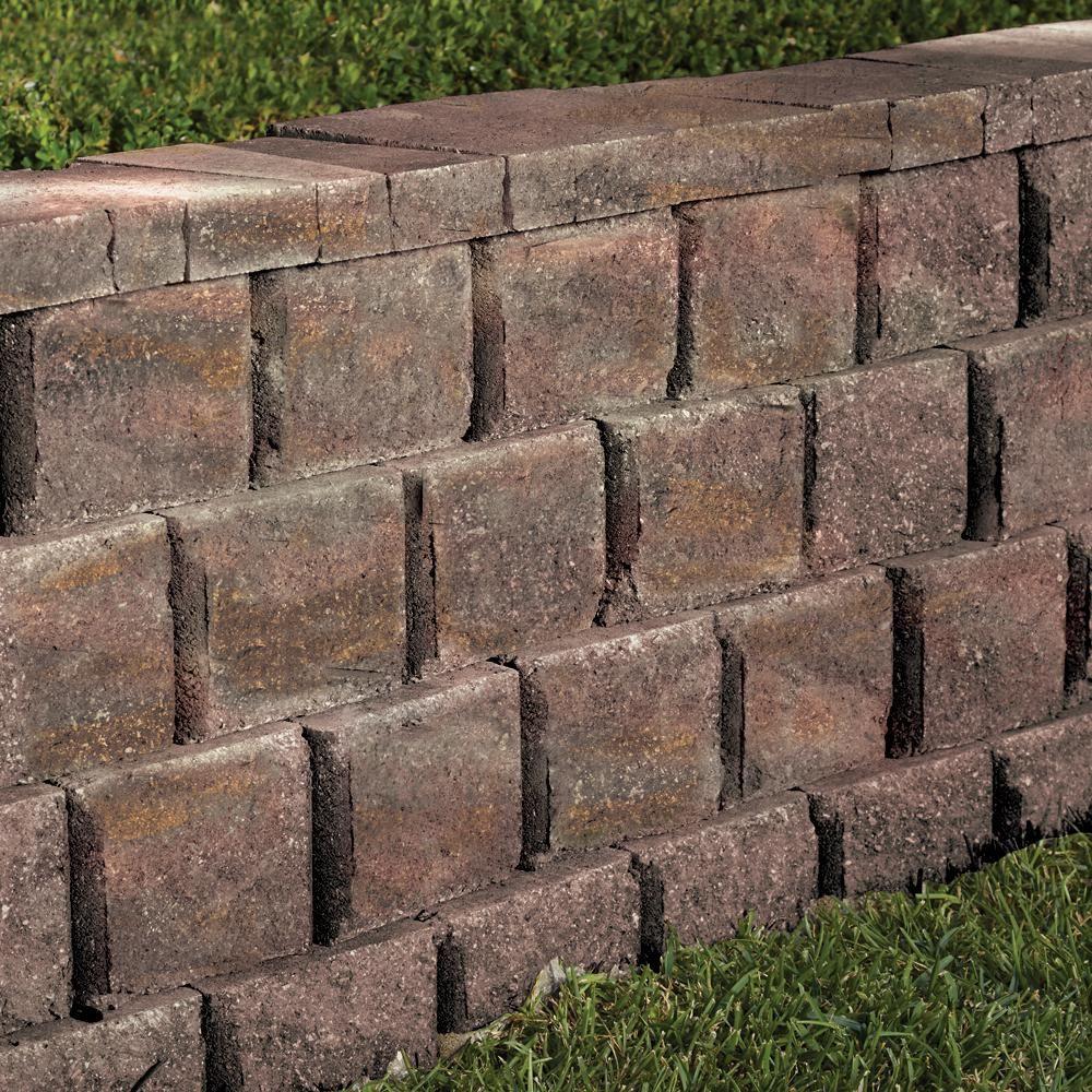 6 fuß kücheninsel ideen pavestone rockwall medium  in x  in x  in palomino concrete