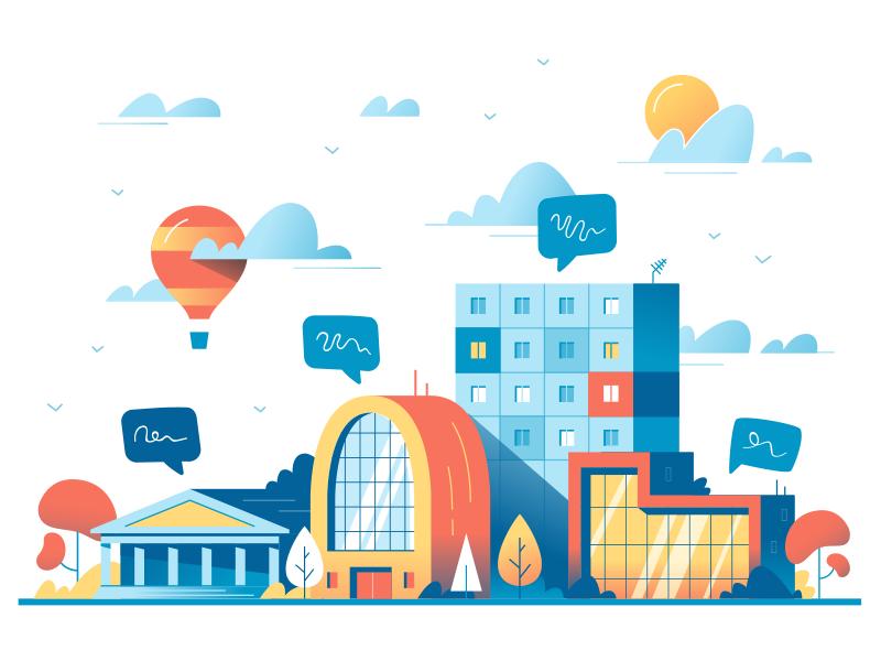Big City Life City Illustration City Icon Icon Design Inspiration