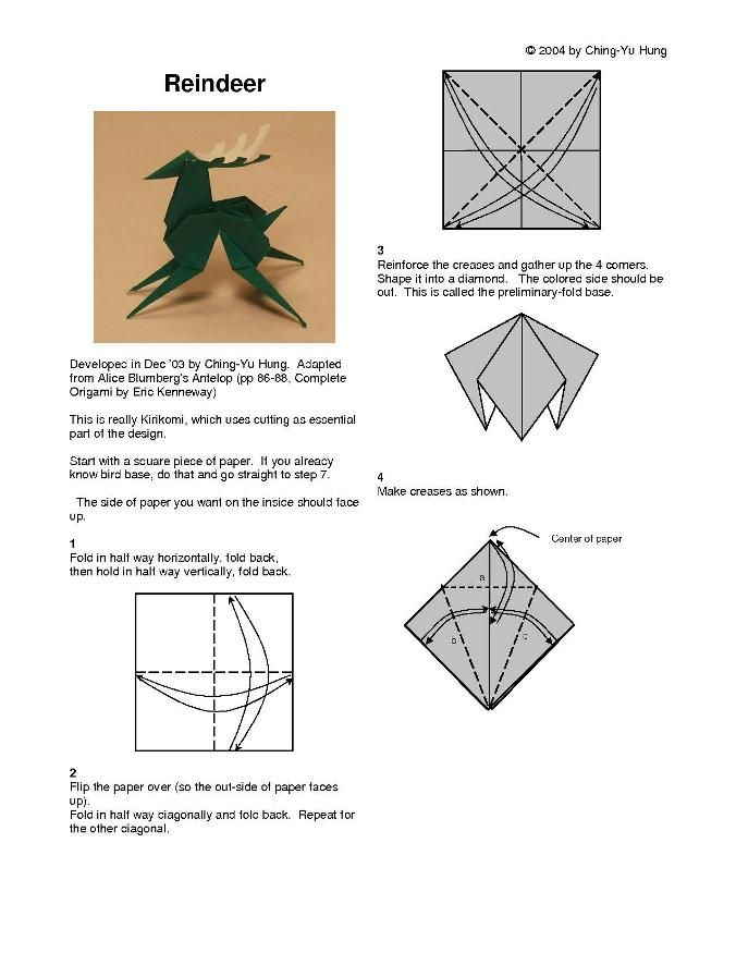 Origami Reindeer Diagram Find Wiring Diagram