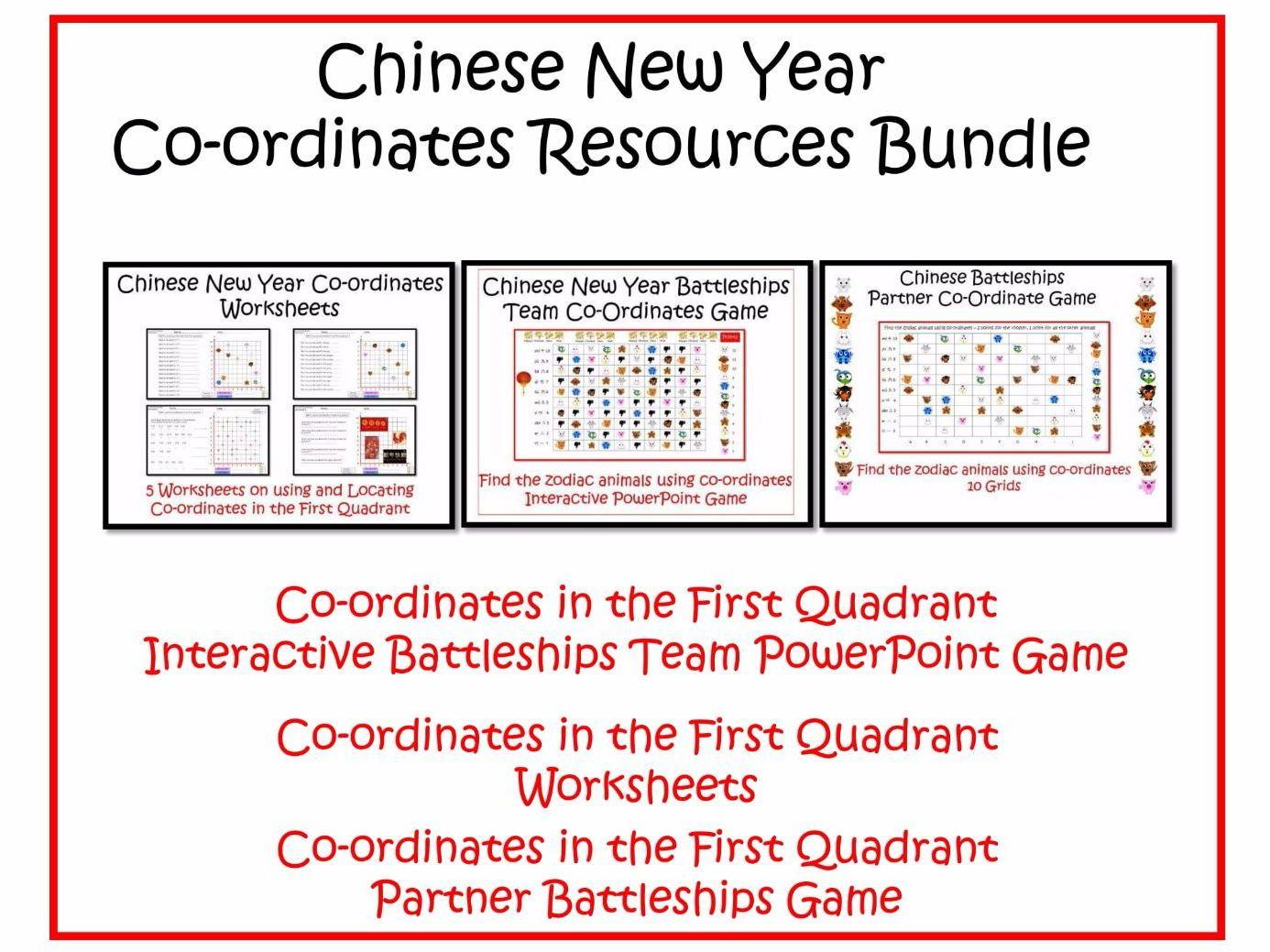 Chinese New Year Maths Coordinates Bundle