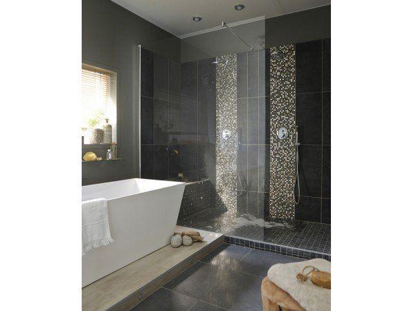 Une salle de bains chic et contemporaine dans 10m leroy merlin salle de bain pinterest - Salle de bain italienne leroy merlin ...