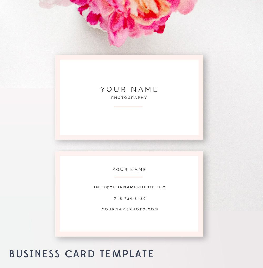 Modern Business Card Design for Photographers & Boutiques ...