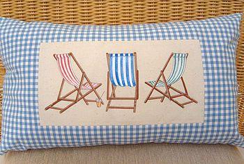 Three Deckchairs Cushion