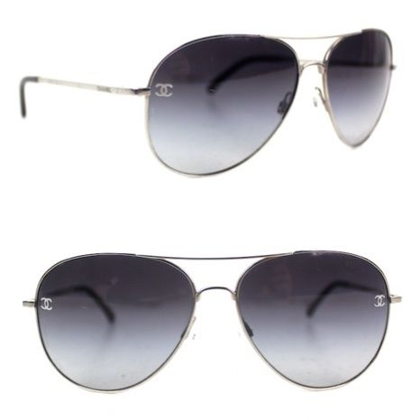 ca048434f5d Chanel Aviator CC Logo Sunglasses 4189