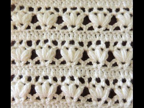Crochet: Punto Combinado # 14 - YouTube | Modelo de tejido ...