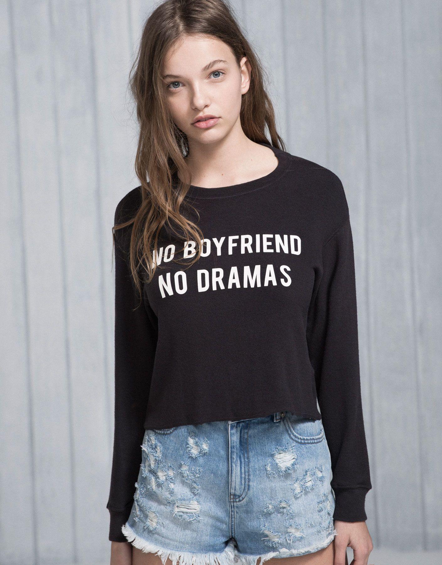 NO BOYFRIEND' JUMPER   NEW PRODUCTS   PACIFIC GIRLS   PULL&BEAR ...