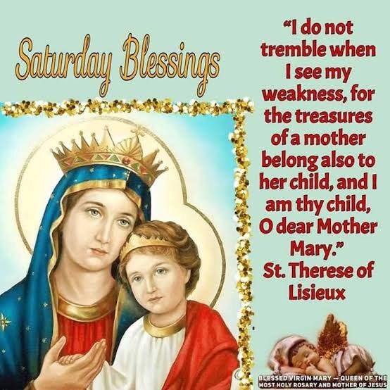 """Saturday Blessings. """"Thank you Mama Mary for being our Mother. You are truly a blessing to us. You are the kindest, the most loving of all mothers. Look tenderly on us your children as we ask you to help us in all our needs. Pray for us O Holy Mother of God who have recourse to thee."""" 🙏🏼❤️💐 #BlessedVirginMary #MotherMary #MamaMary #AveMaria #SaturdayDevotion #BlessedSaturday"""