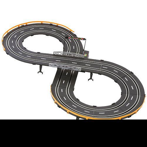 """NEW Life-Like 9/"""" Dual Lane Lap Counter Slot Car Race Track"""