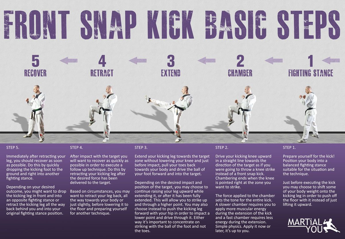 martial arts diagram car led strip wiring basic steps to perform a taekwondo style front snap kick