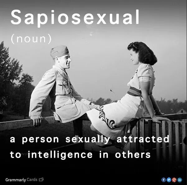 Word for sexual attraction to intelligence