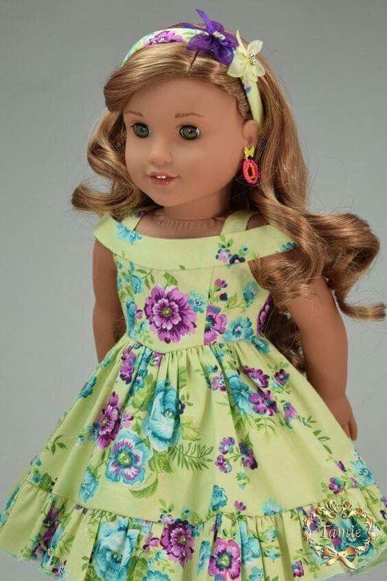 "WINNIE THE POOH /& EEYORE DRESS /& HEADBAND--MADE TO FIT 15/"" GIRL DOLL"