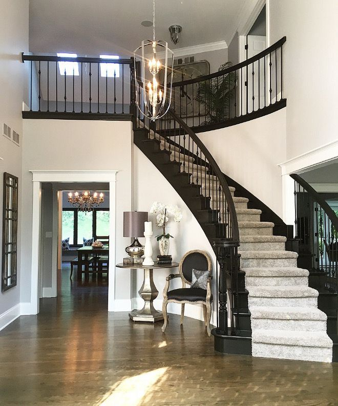 21 Attractive Painted Stairs Ideas Pictures: Black Staircase Paint: Black Beauty By Benjamin Moore With