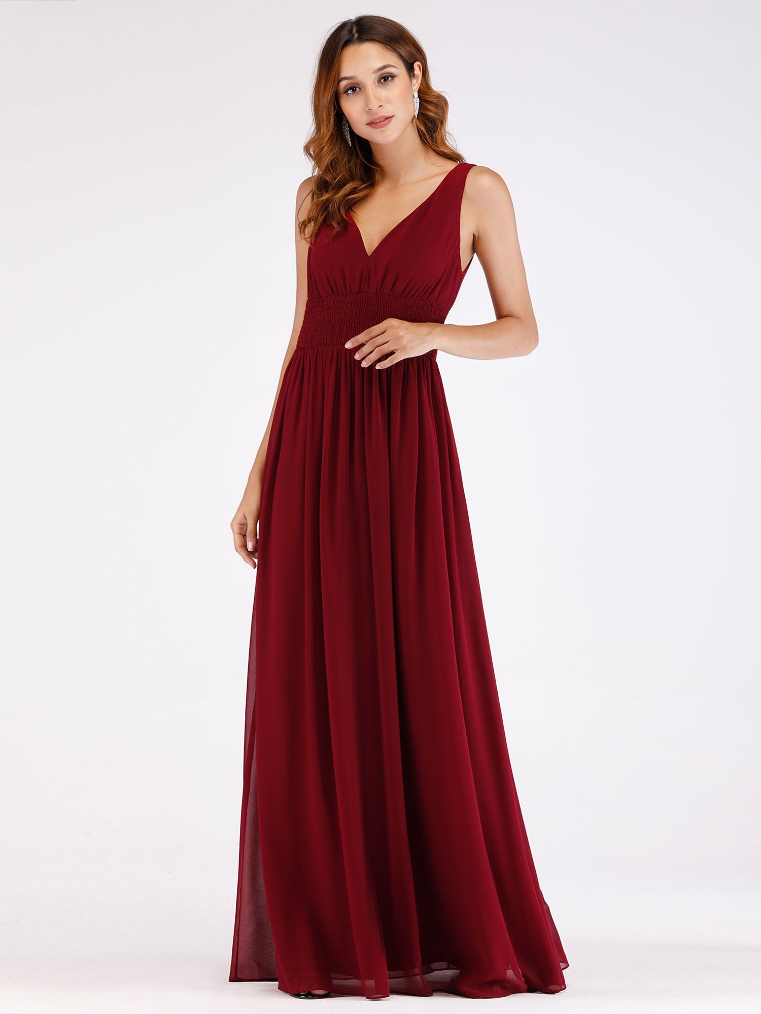 c8be18289a75a Floor Length Semi Formal Stretchy Maxi Dress | Ever-Pretty ...