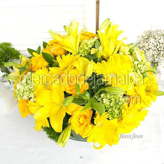 Arreglo Floral con Lilies Triada de Color m1501| Envia Flores