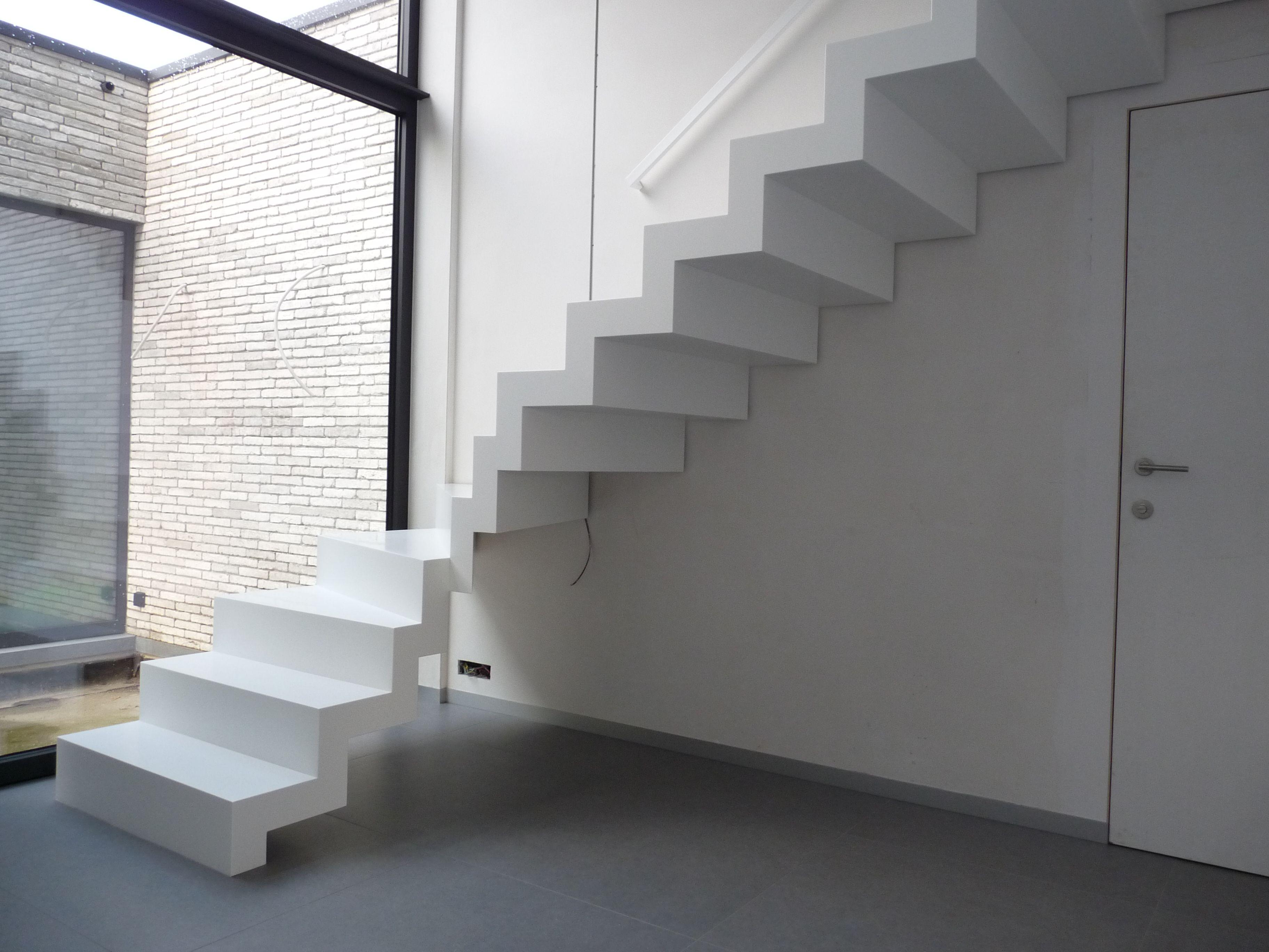 Corian trap trappen genico interior stairs railing