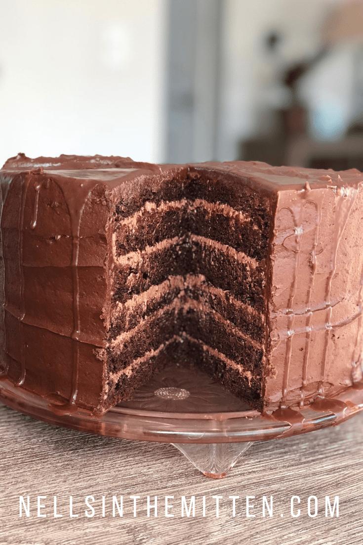 Chocolate Kahlua Cake Recipe Starts With Cake Mix In 2020 Ice Cream Cake Cream Cake Make Ice Cream Cake