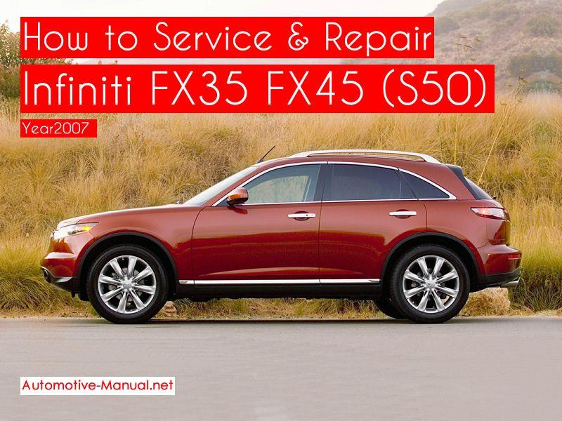 [DIAGRAM_3ER]  Infiniti FX35 FX45 (S50) Service Repair Manual 2007 (With images) | Infiniti  fx35, Infiniti, Repair manuals | 2007 Fx35 Infiniti Wiring |  | Pinterest