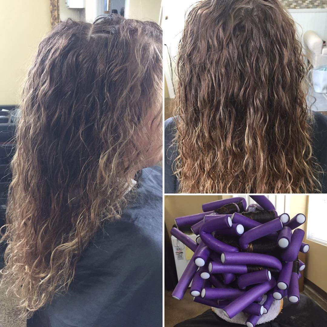 Flexi Rod Perms Create Beautiful Waves Love Making My Clients Happy Qloveshair Salonq Flexirodperm Olapl Permed Hairstyles Long Hair Styles Hair Styles