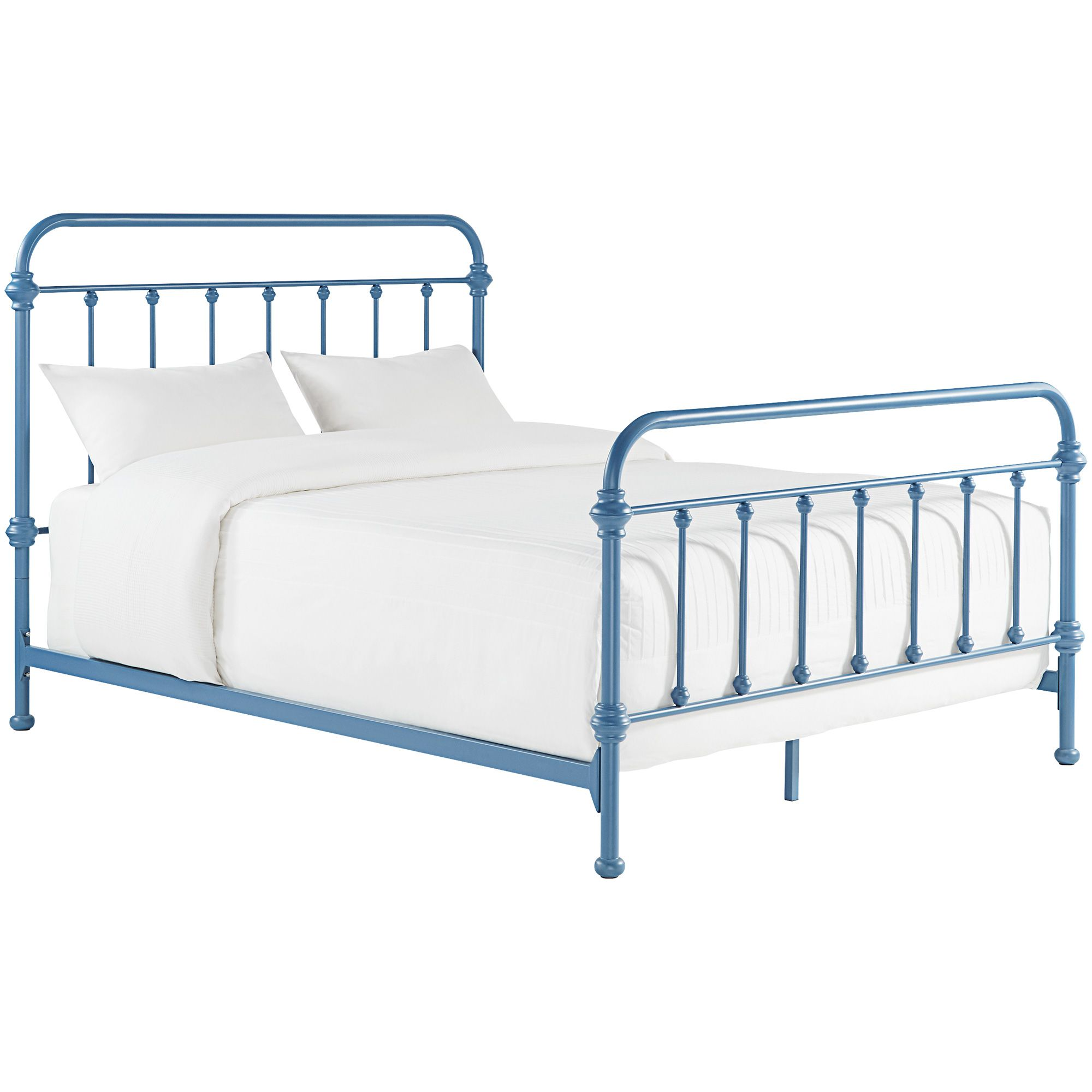 Laguna Blue Full Metal Bed Metal Beds Bed Weston Home