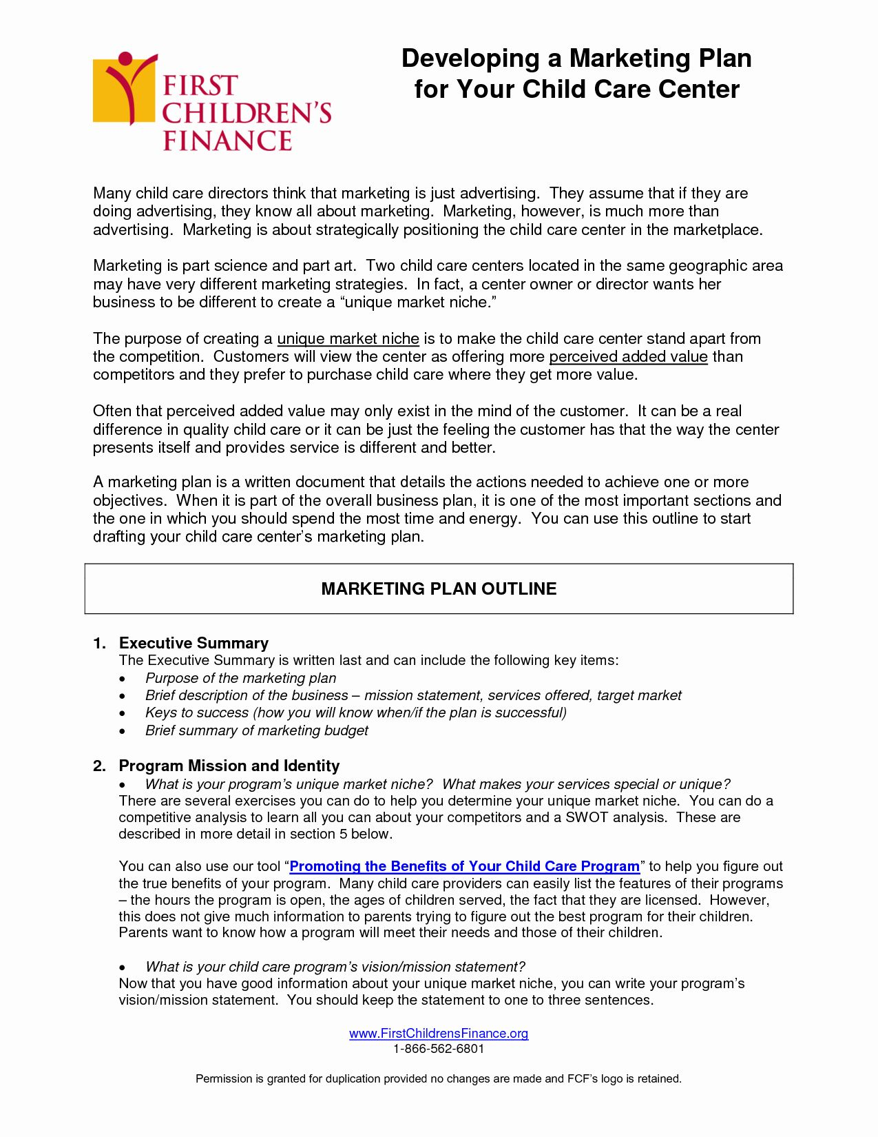 Daycare Business Plan Template Free Download Inspirational Writing