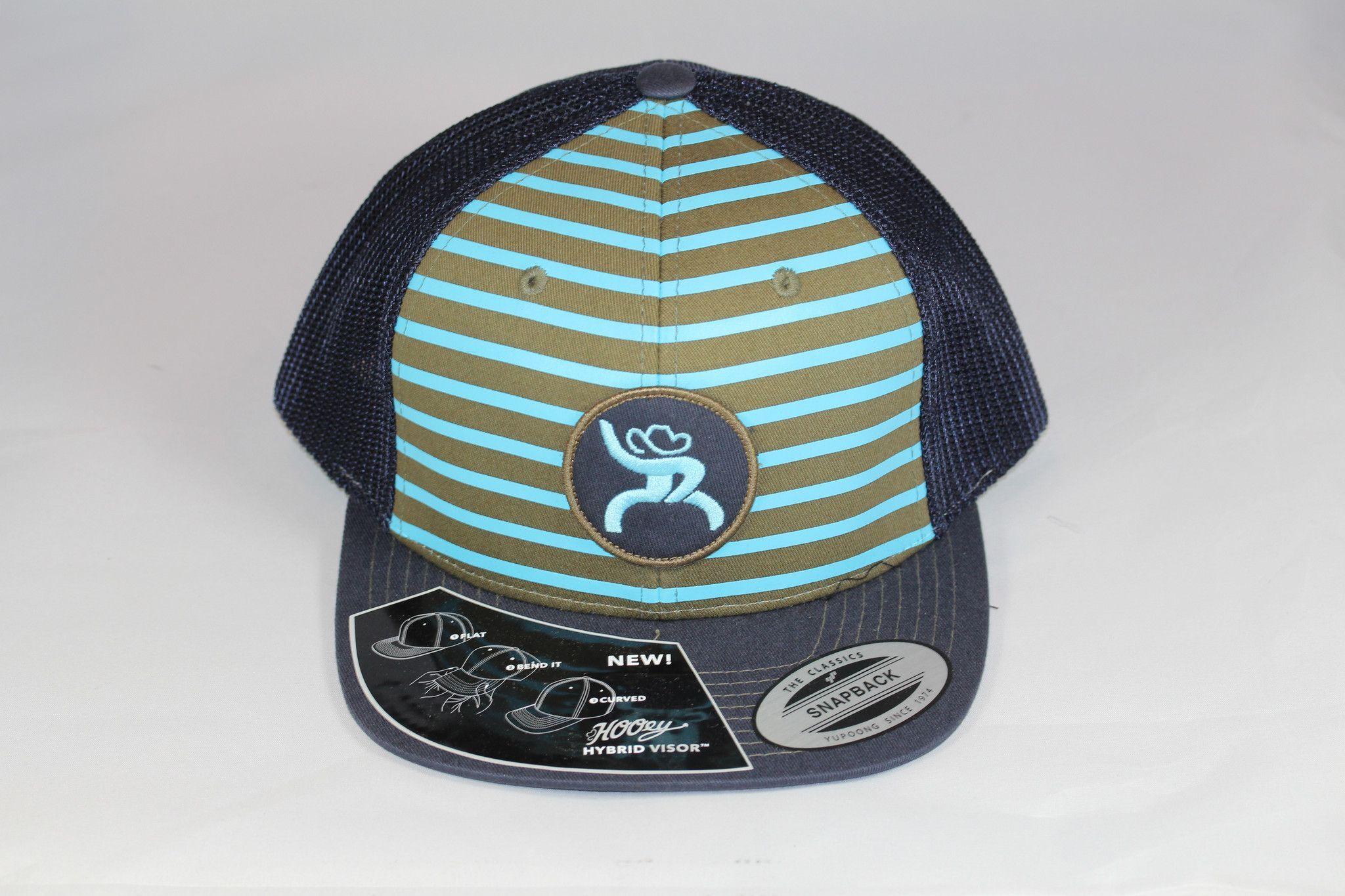 best website d3e98 881bd HOOey Hat Mens Truck Cap Stripes Chute Rough One Size Black 4319T-NVTQ