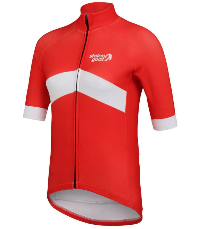 orkaan everyday waterproof cycling jersey ss ladies red front 6b6edf043