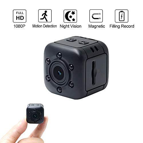 Mini Cam/éra Espion LXMIMI Petite Cam/éra Cach/ée 1080P Portable Cam/éra de Surveillance de S/écurit/é avec Vision Nocturne et D/étection de Mouvement pour Maison,Voiture,Drone,Bureau,en Plein Air