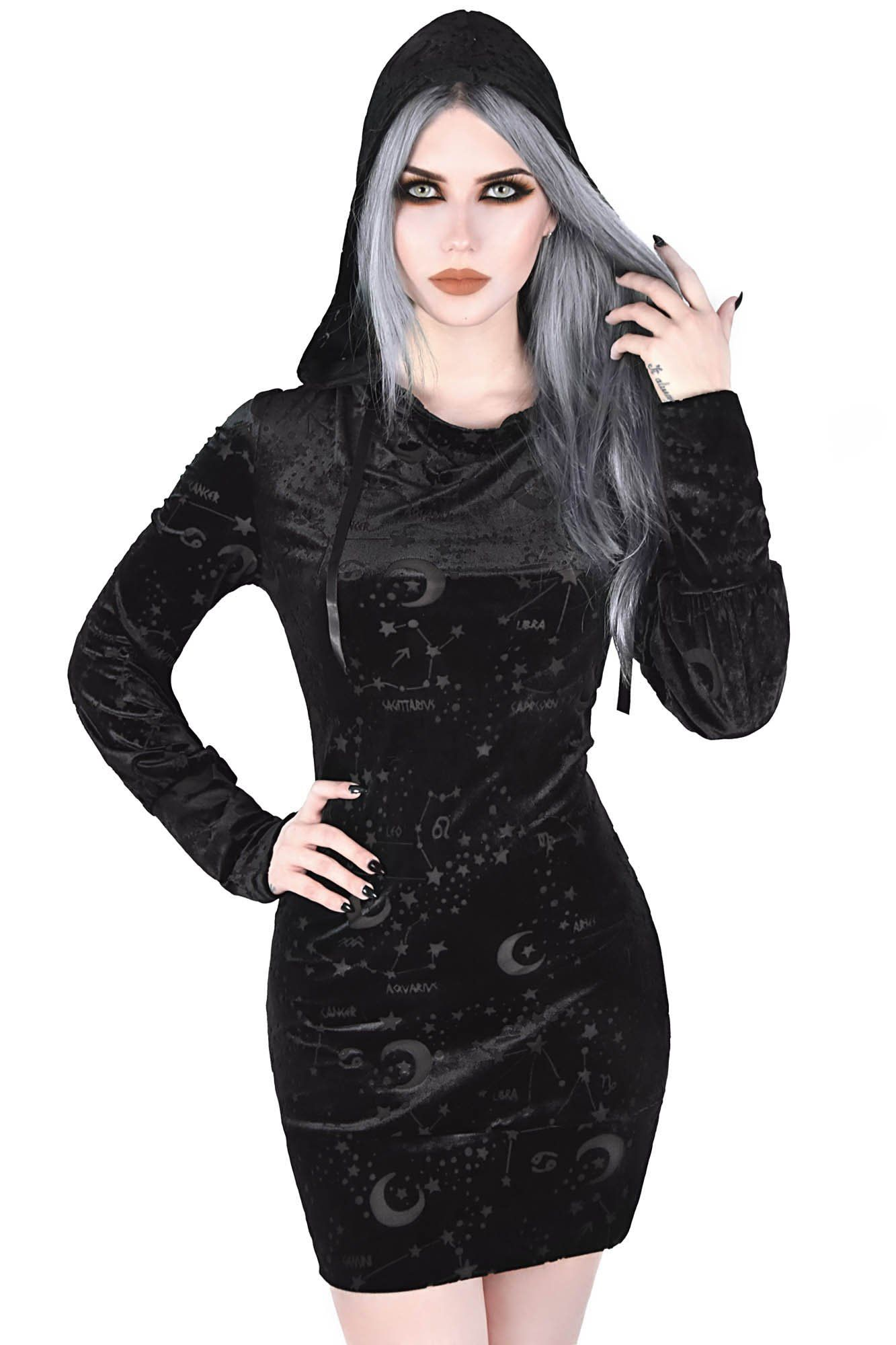 Gothic Kleding.Galatea Hooded Tunic Gothic
