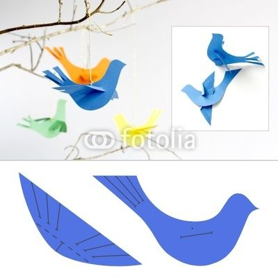 Bird Template | Paper Bird Template By Marina Grau, Royalty Free