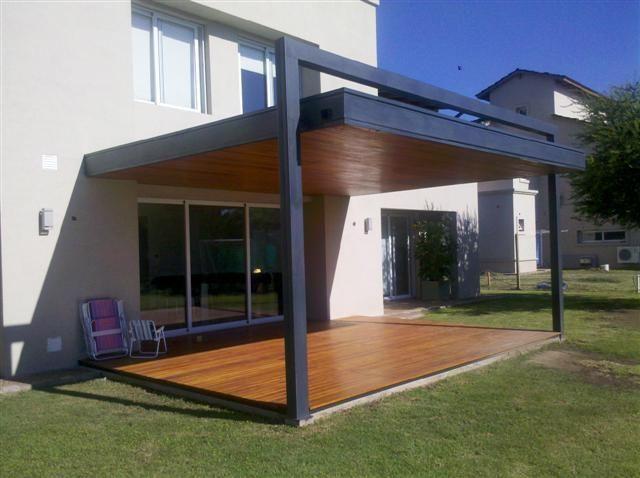 Arquitec fabricacion de techos de madera cordoba decks de madera pergolas country fachada - Techos pergolas ...