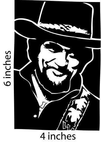 Waylon jennings sticker cut vinyl decal seven h custom art decals directions for application