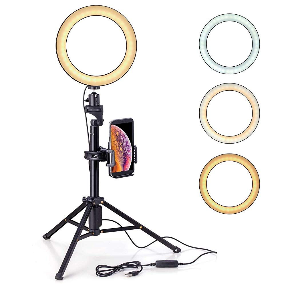 Eocean 8 Inches Selfie Ring Light With Tripod Ring Light With Stand 54 Inchestripod For Youtube Live Stre Selfie Ring Light Ring Light With Stand Selfie Light