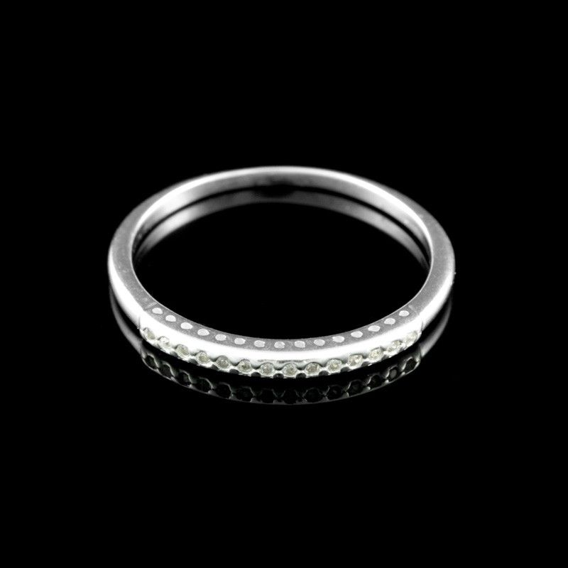 Meia Aliança Zircônia Branca - Coleção Lumina - Anéis - Prata Fina - Joias  em Prata 5d8ec6aa63
