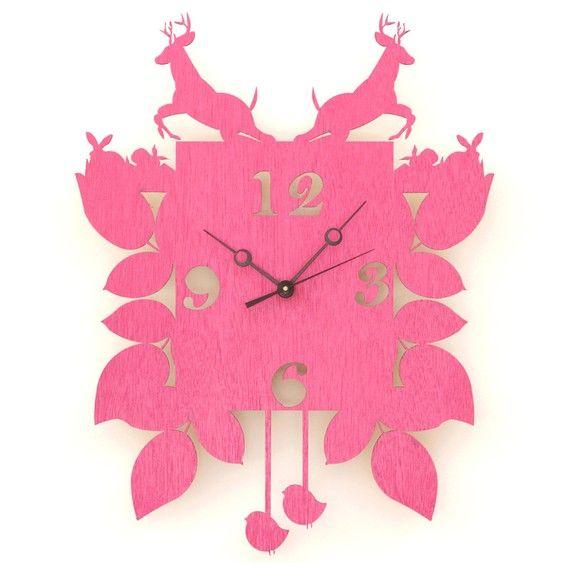 Cuckoo Clock Pink Clocks Modern Cuckoo Clocks
