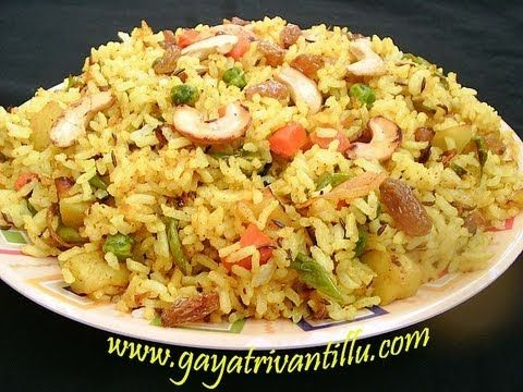 Mixed vegetable rice andhra recipes telugu vantalu rice of the mixed vegetable rice andhra recipes telugu vantalu ccuart Images