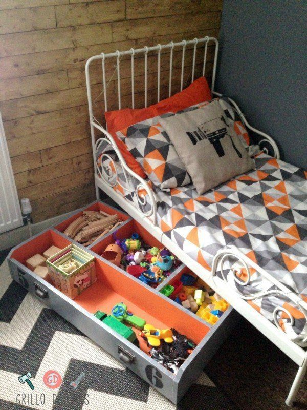Drawer Turned Under the Bed Toy Storage by Medina Grillo from Grillo Designs