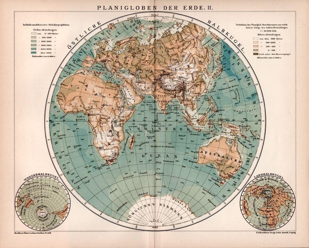 Eastern hemisphere planisphere antique map africa asia oceania eastern hemisphere planisphere antique map africa asia oceania water and land hemisphere gumiabroncs Image collections