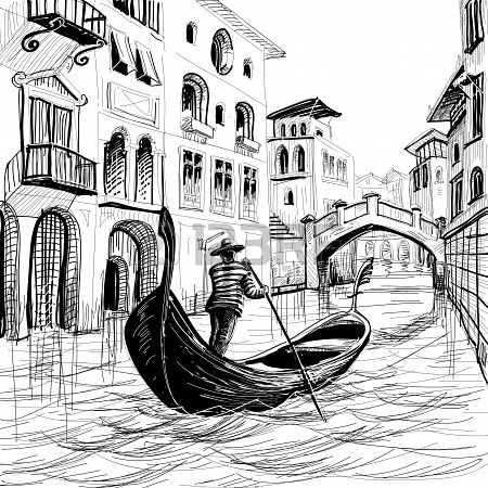 drawing of Gondola - Google Search | Art | Pinterest ...