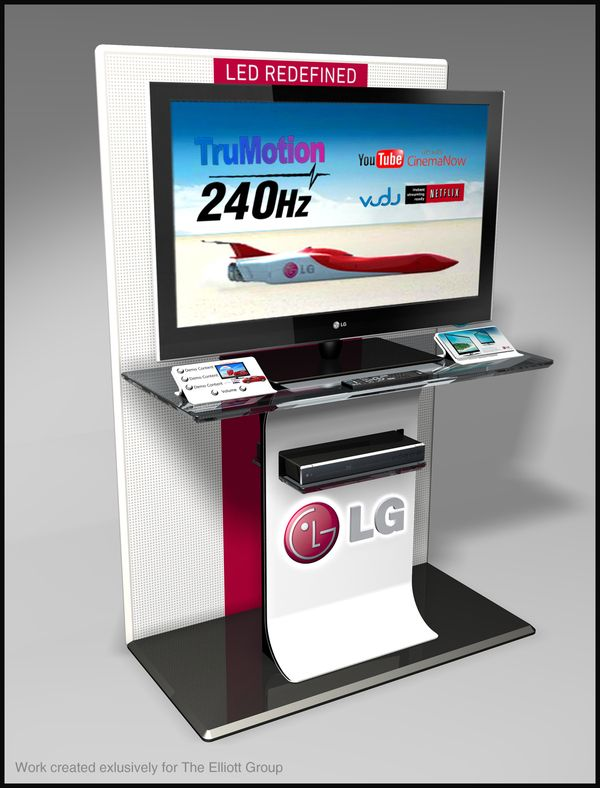 Exhibition Stand Tv : Lg tv interactive display on behance units