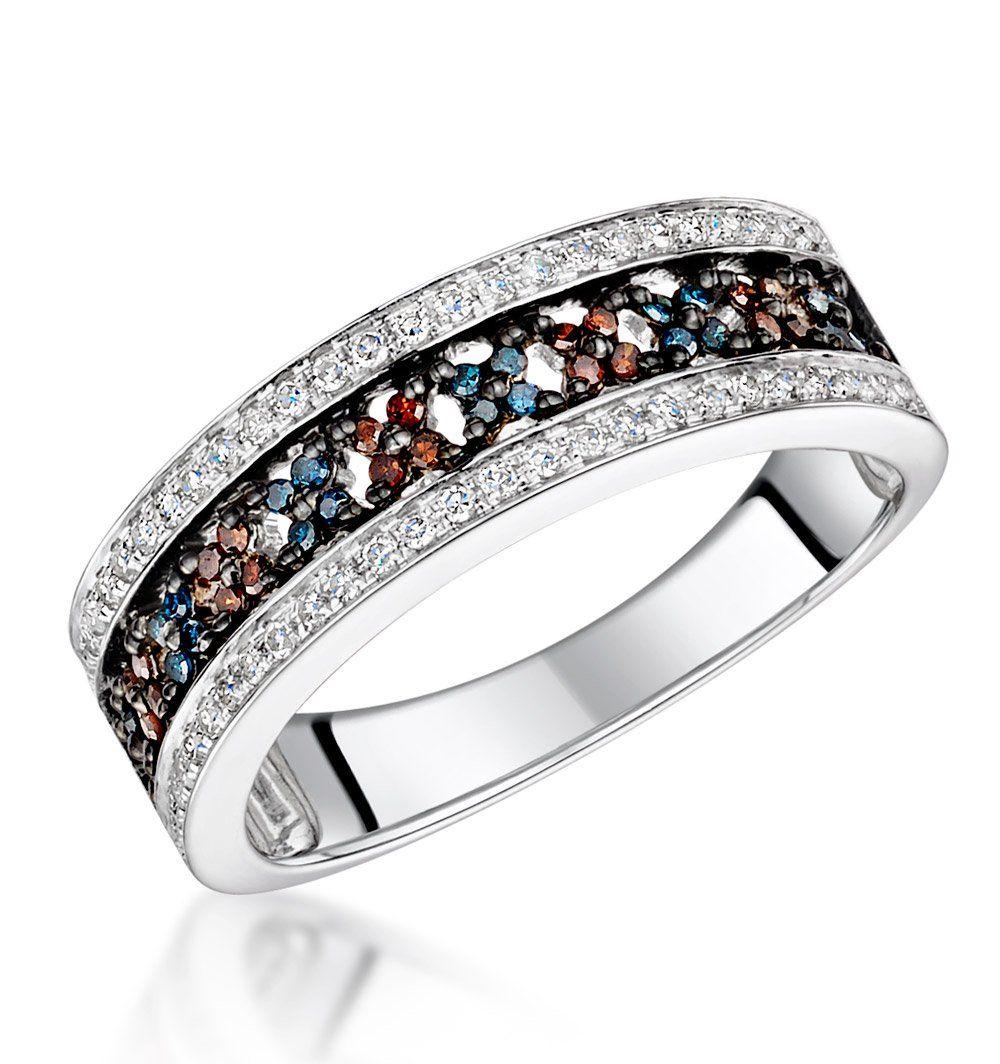 Stellato Collection Multi Colour Diamond Ring 0.23ct in 9K